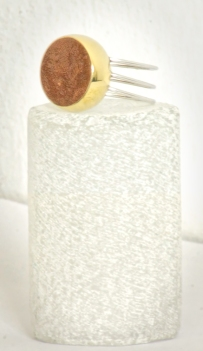 Ring (brass, Sterling Silver and crushed rock): R 690.00 (approx. EURO 47.00)