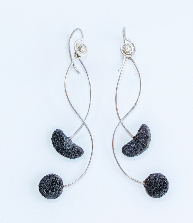Earrings 'Meander'